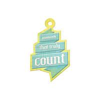 Фигурный тег с тиснением - Count , 42407-9