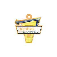 Фигурный тег с тиснением - Sunshine , 42411-6