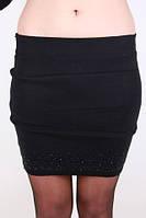 Трикотажная юбка со стразами