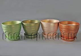 Горщик керамічний з текстурою Ø17,0см/h14,0см