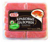 Палочки крабовые VICI с мясом натурального краба охлажденные 200г