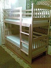 Кровать двухъярусная Ева с подкроватными ящиками, фото 2