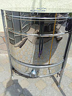 Медогонка радиальная 27/54 нержавейка (сталь 430), кран нержавейка, с эл. приводом, блоком питания, крышкой и подставкой