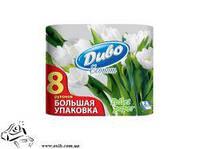 Туалетная бумага Диво 8 рул. Обухов 2-х слойная целлюлоза белая