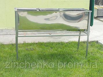 Стол для распечатки сотовых рамок 1,5 м с одной корзиной