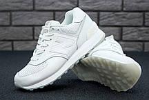 Кроссовки женские Нью Беленс New Balance 574 white leather. ТОП Реплика ААА класса., фото 3