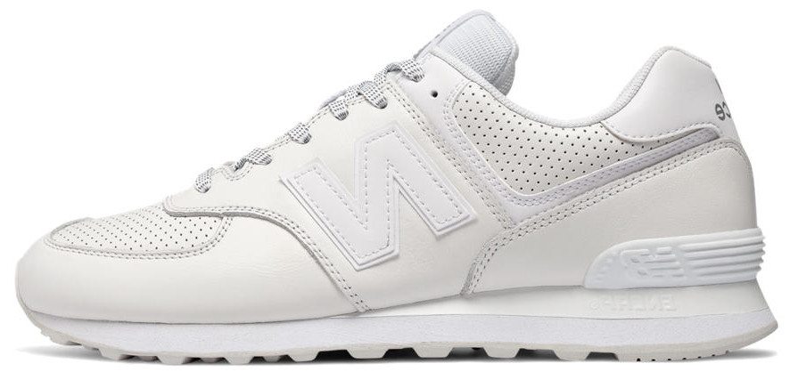 Кроссовки женские Нью Беленс New Balance 574 white leather. ТОП Реплика ААА класса.