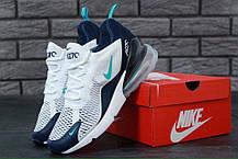 Кроссовки мужские Найк Nike Air Max 270 Royal Blue White Grey. ТОП Реплика ААА класса., фото 2