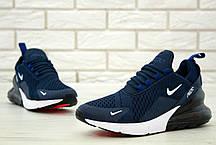 Кроссовки мужские Найк Nike Air Max 270 Blue/White/Black. ТОП Реплика ААА класса., фото 3