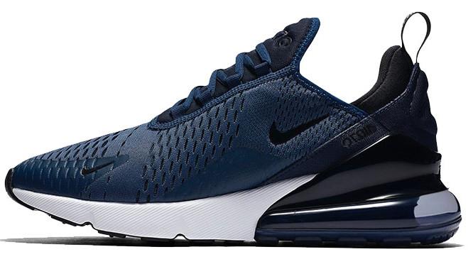 Кроссовки мужские Найк Nike Air Max 270 Blue/White/Black. ТОП Реплика ААА класса.