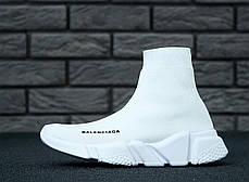 Кроссовки женские Balenciaga Speed Trainer Knit High Runner White баленсиага женские. ТОП Реплика ААА класса., фото 2