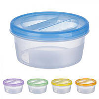 Контейнер пластиковый для пищевых продуктов 500мл круглый PT-83078 (60шт)