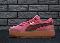 Кроссовки женские пума Puma Cleated Creeper Rihanna Fenty Rose 238af5fda64bb