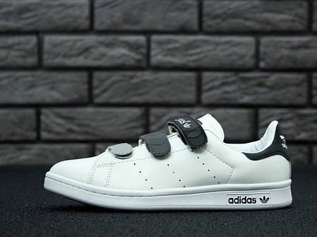 Женские кроссовки AD White Gray Stan Smith Women Velcro Shoes, А-д . ТОП Реплика ААА класса., фото 2