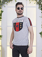 """Мужская футболка  """" Gucci """" Dress Code"""