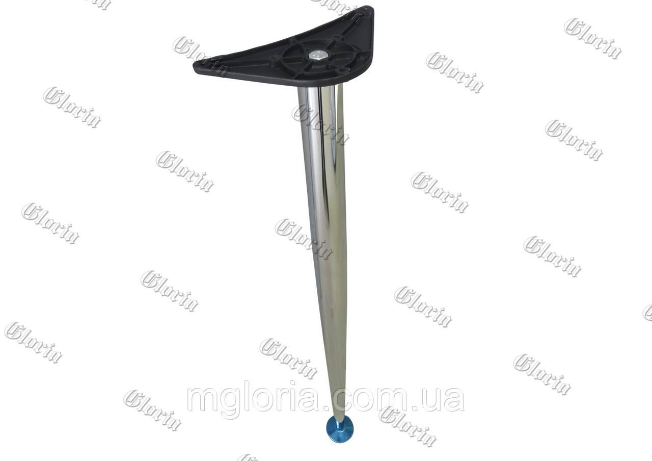 Нога Н=710 конусообразная хром