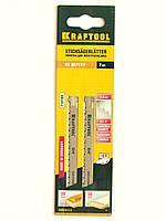 Пилки для электролобзика KRAFTOOL по дереву, шаг зуба 2,5мм, длина 75мм.