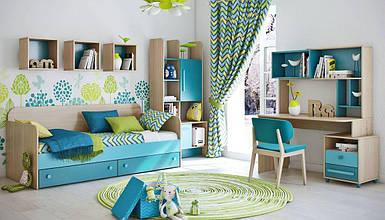 Детская комната Акварели бирюзовые