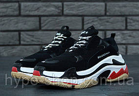Мужские черные кроссовки Balenciaga Triple S | Люкс Реплика