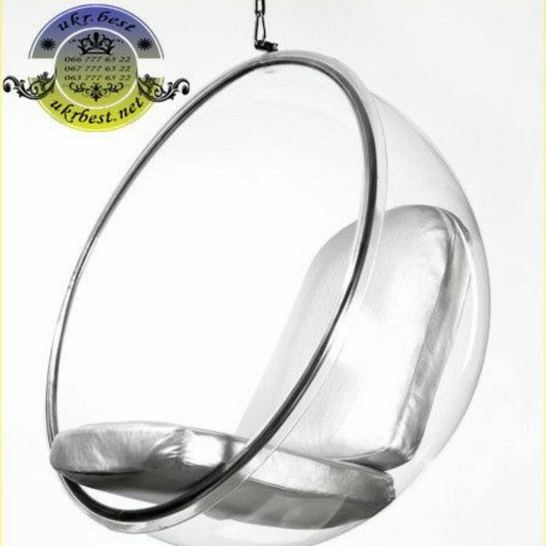 """Дизайнерское прозрачное кресло шар """"Bubble Chair"""" из акрила"""