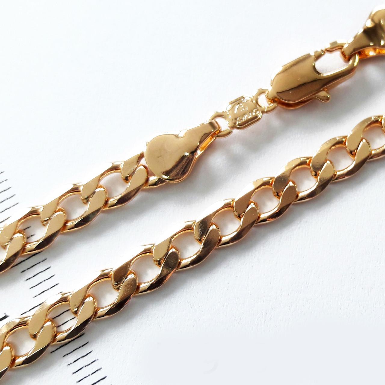 Цепочка xuping 5мм 50см панцирное плетение ц350