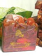 """Натуральное мыло ручной работы """" Рубин """" , фото 1"""