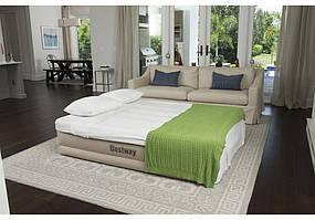 Надувная велюр-кровать BestWay 69011 203*152*43 встроенный насос
