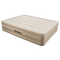Надувная велюр-кровать BestWay 69024 203*152*51 см встроенный насос