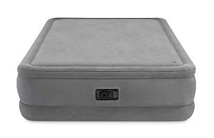 Надувная велюр-кровать Intex 64470 203*152*51 встроенный насос