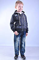 "Штани джинсовi на хлопчика, ""косi хрести на заднiх"