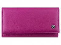 Вместительный женский кошелек BOSTON (Бостон) в розовом цвете с отделением для кредитных карт. (B217 Plum Red)