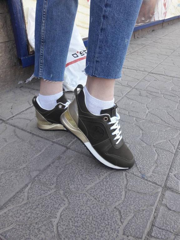 Кроссовочки луи виттон из натуральной кожи зеленые