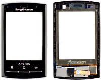 Сенсор Sony Ericsson X10 mini with frame black orig