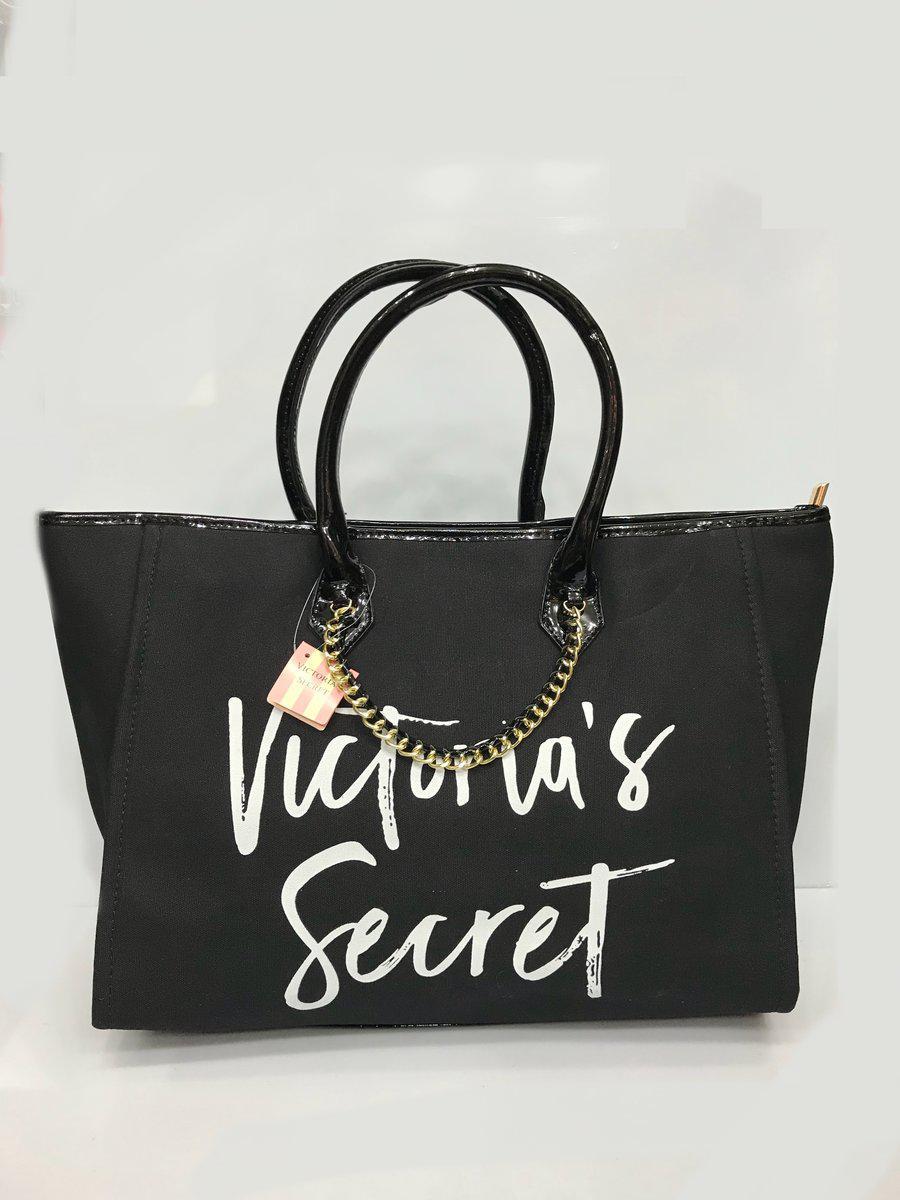 3e9524209f14 Пляжная сумка Victoria Secret 2898 женская из коттона ручки кожзам один  отдел на молнии - Shoppingood