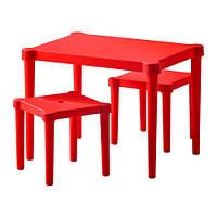 UTTER Детский стол и 2 стула, красный