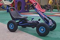 Педальный карт BAMBI СИНИЙ с надувными колесами