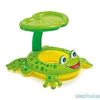 Детский надувной плотик для плавания Intex 56584 «Лягушка», 119 х 79 см