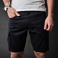 Короткие карго шорты F&F Cargo, черные, фото 1
