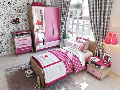 Детская комната Акварели розовые