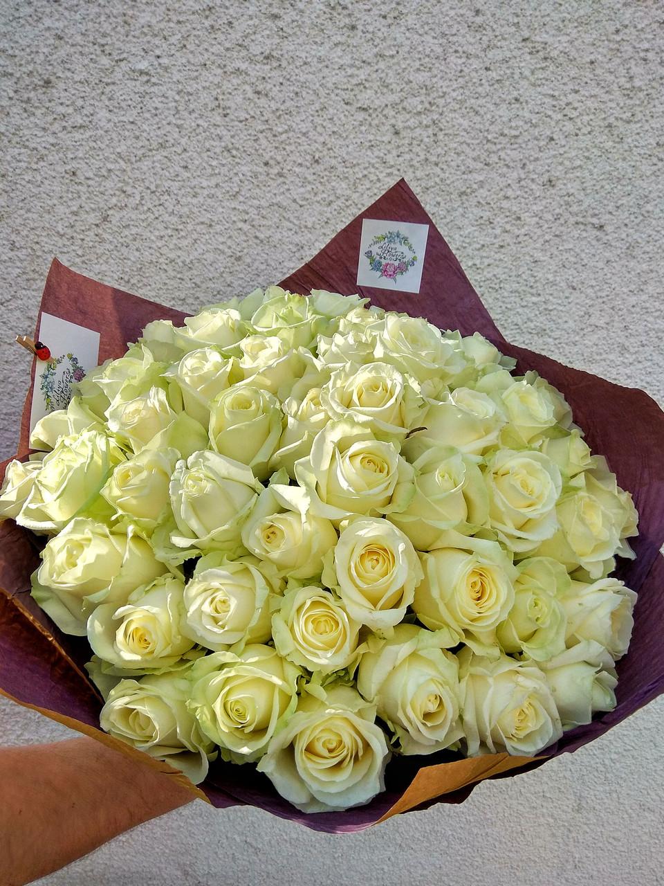 """Букет из белых роз """"Воздушный"""""""