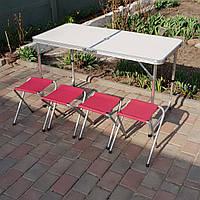 Стол-чемодан + 4 складных стульчика, фото 1