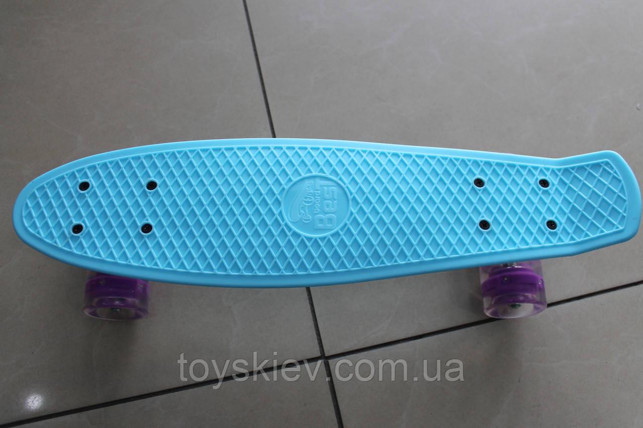 Скейт Пенни борд (Penny board) 694б свет колёса. 55см.