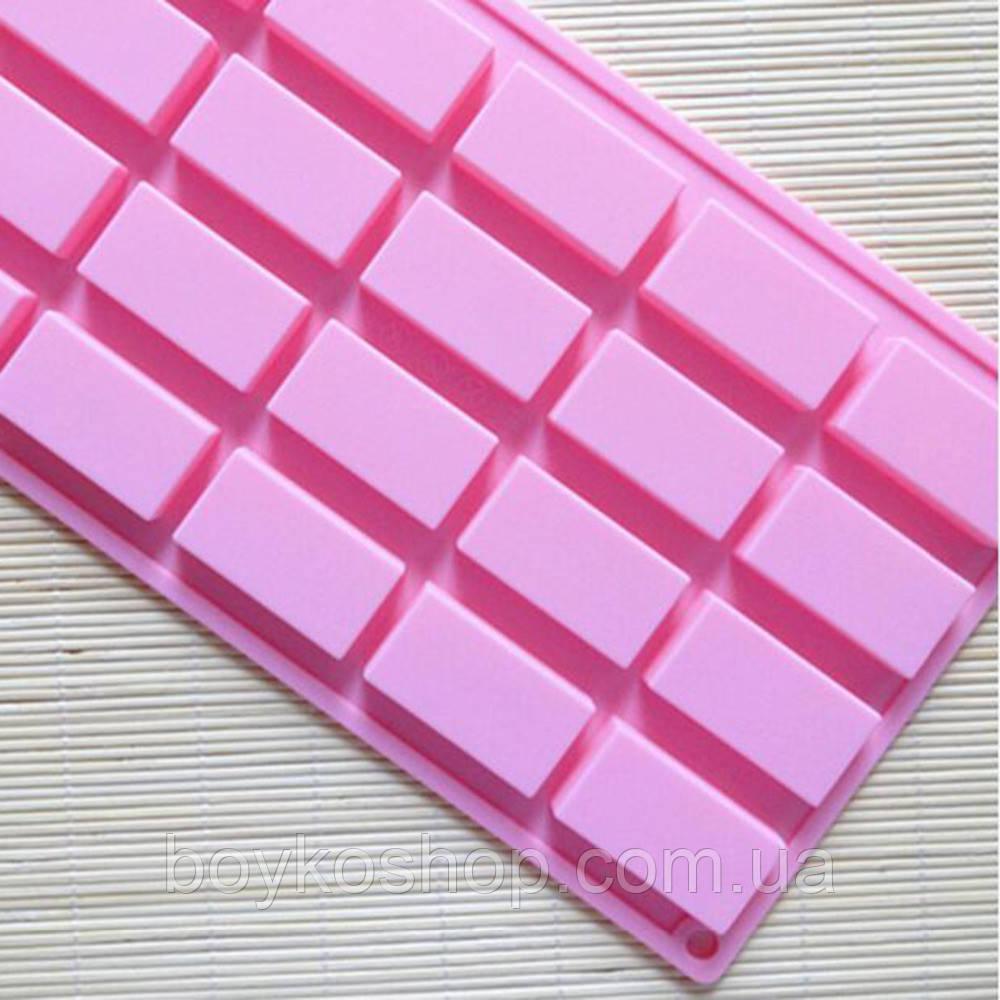 Форма силиконовая 20 прямоугольников