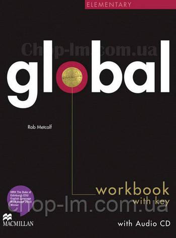 Global Elementary Workbook + CD with Key (рабочая тетрадь с ответами и диском, уровень A2), фото 2