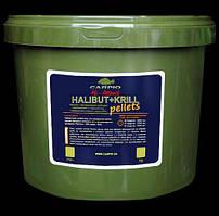 Пеллетс Carpio Hi-Attract Halibut+Krill, 14мм, 3кг