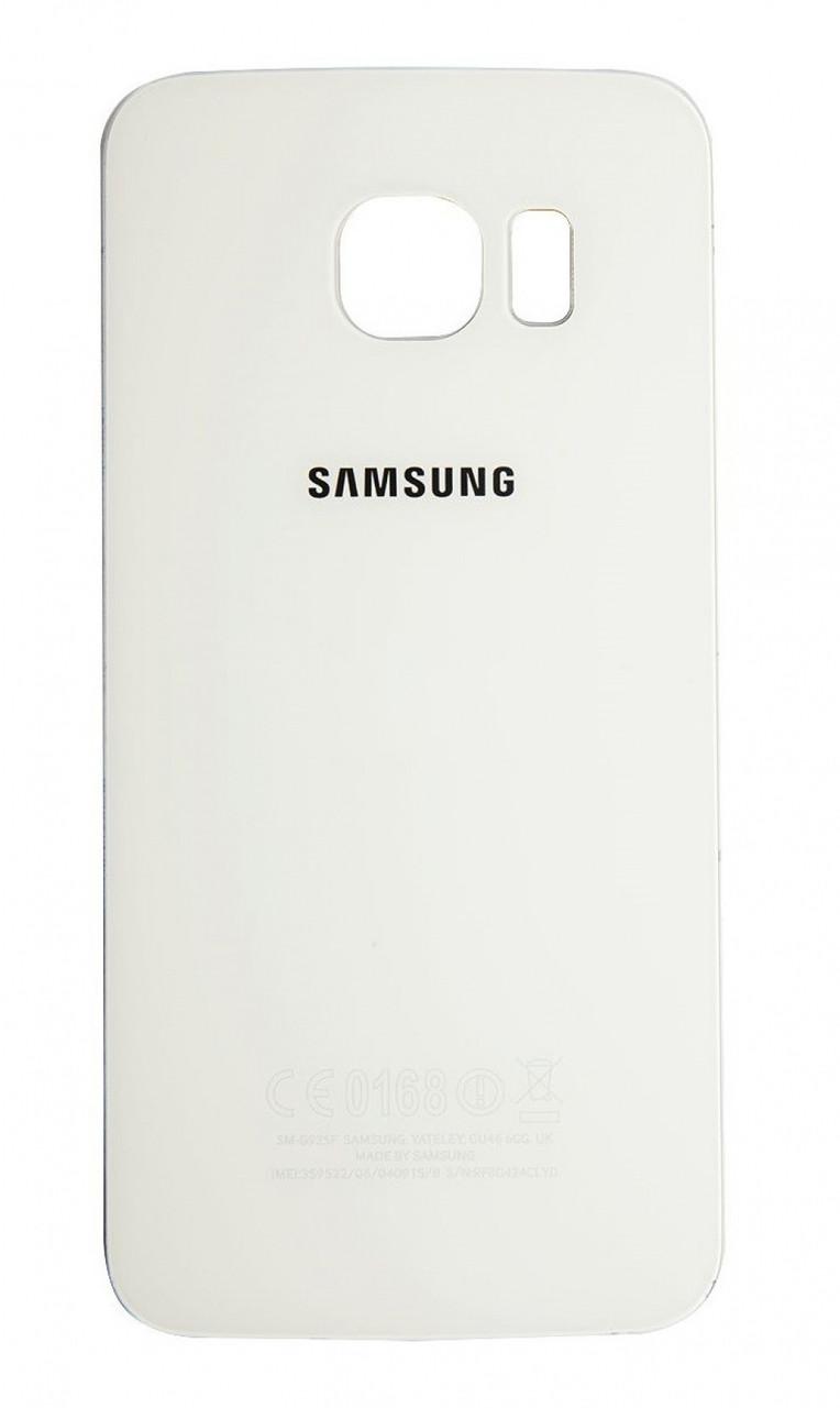 Задняя крышка Samsung G925F Galaxy S6 EDGE white