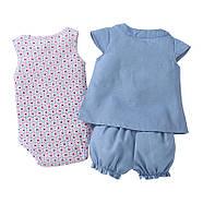Комплект для девочки 3 в 1 Цветочный узор Berni, фото 8
