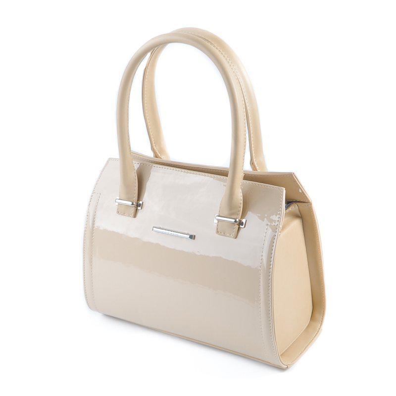 47ac91fe3e4b Молочная лаковая сумка саквояж М68-77/66 небольшого размера на лето, фото 1