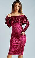Платье Бордовое Зима 42-44,44-46, фото 1