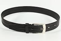 Ремень кожаный брючный 30 мм с тиснением детский